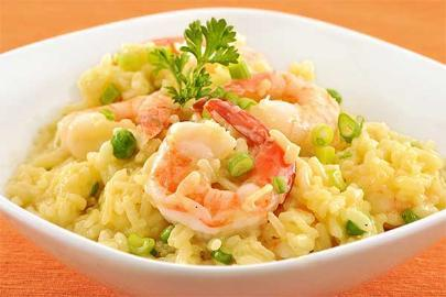 Risotto with fried prawns by chef John Loukakos