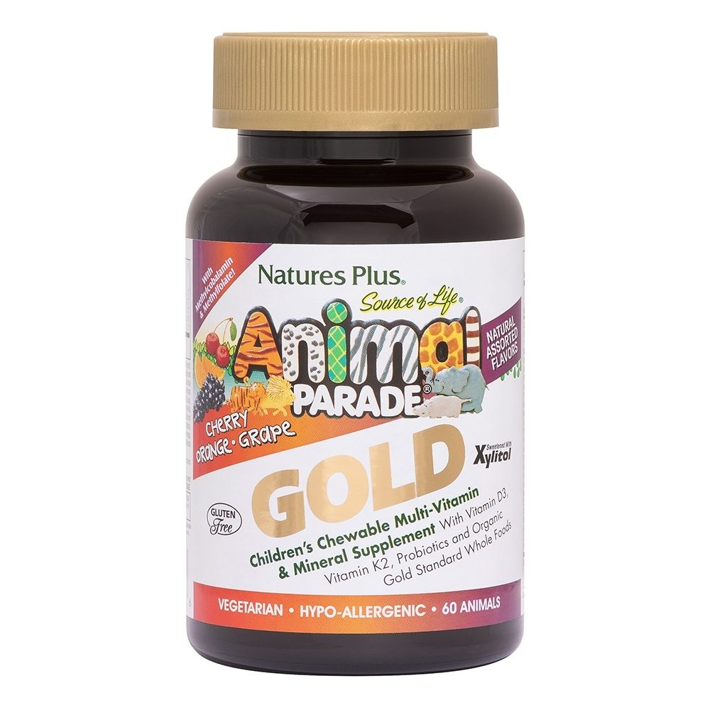 Nature's Plus Animal Parade Gold Cherry, Orange & Grape 60 Μασώμενες Ταμπλέτες