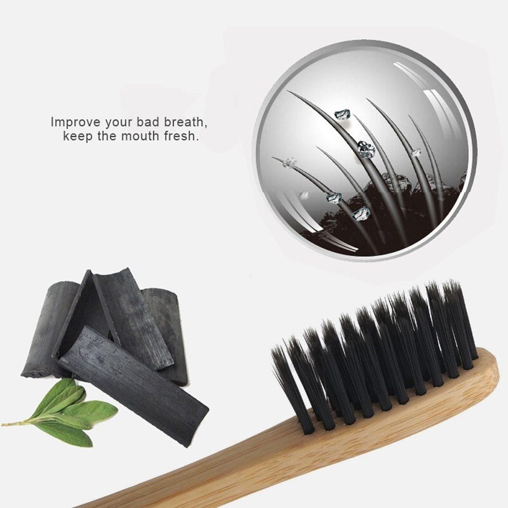Οδοντόβουρτσα φυσική Μπαμπού με ενεργό Άνθρακα +καπάκι ΔΩΡΟ!