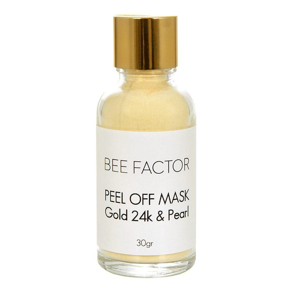 Μάσκα προσώπου Peel Off με Χρυσό 24k & Μαργαριτάρι (Bee Factor) (30g)