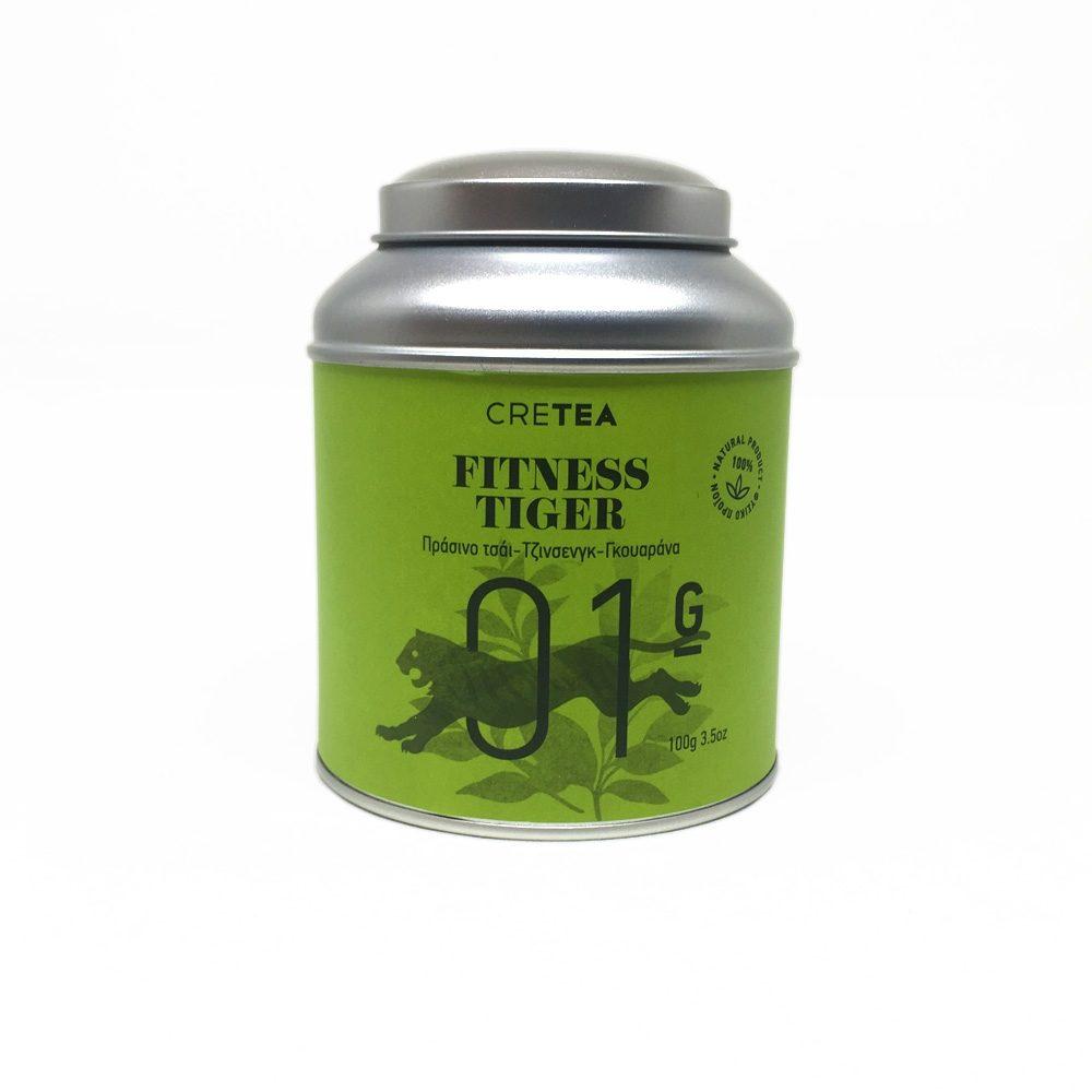 FITNESS TIGER Τσάι πράσινο - Γκουαράνα (100g)