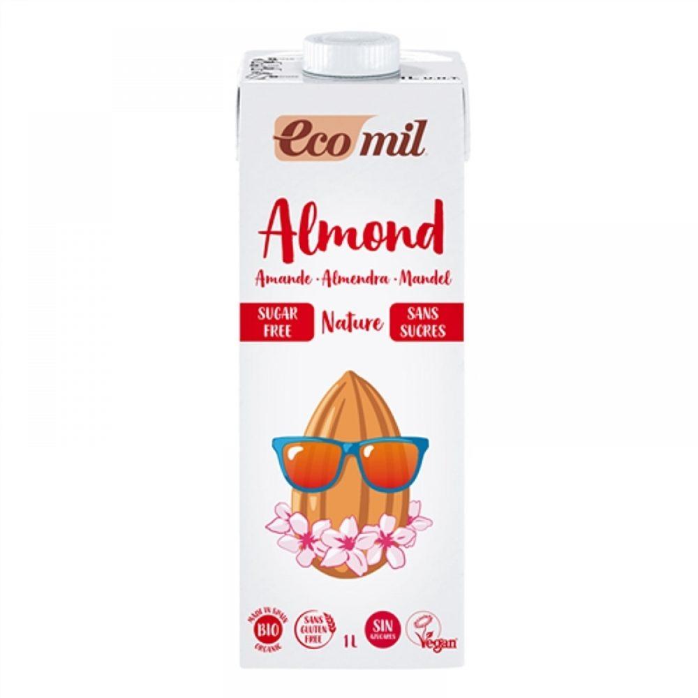Γάλα αμυγδάλου χωρίς ζάχαρη (Βιολογικό) (1lt)