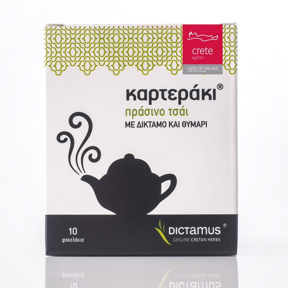 Green tea with thyme and dictamus