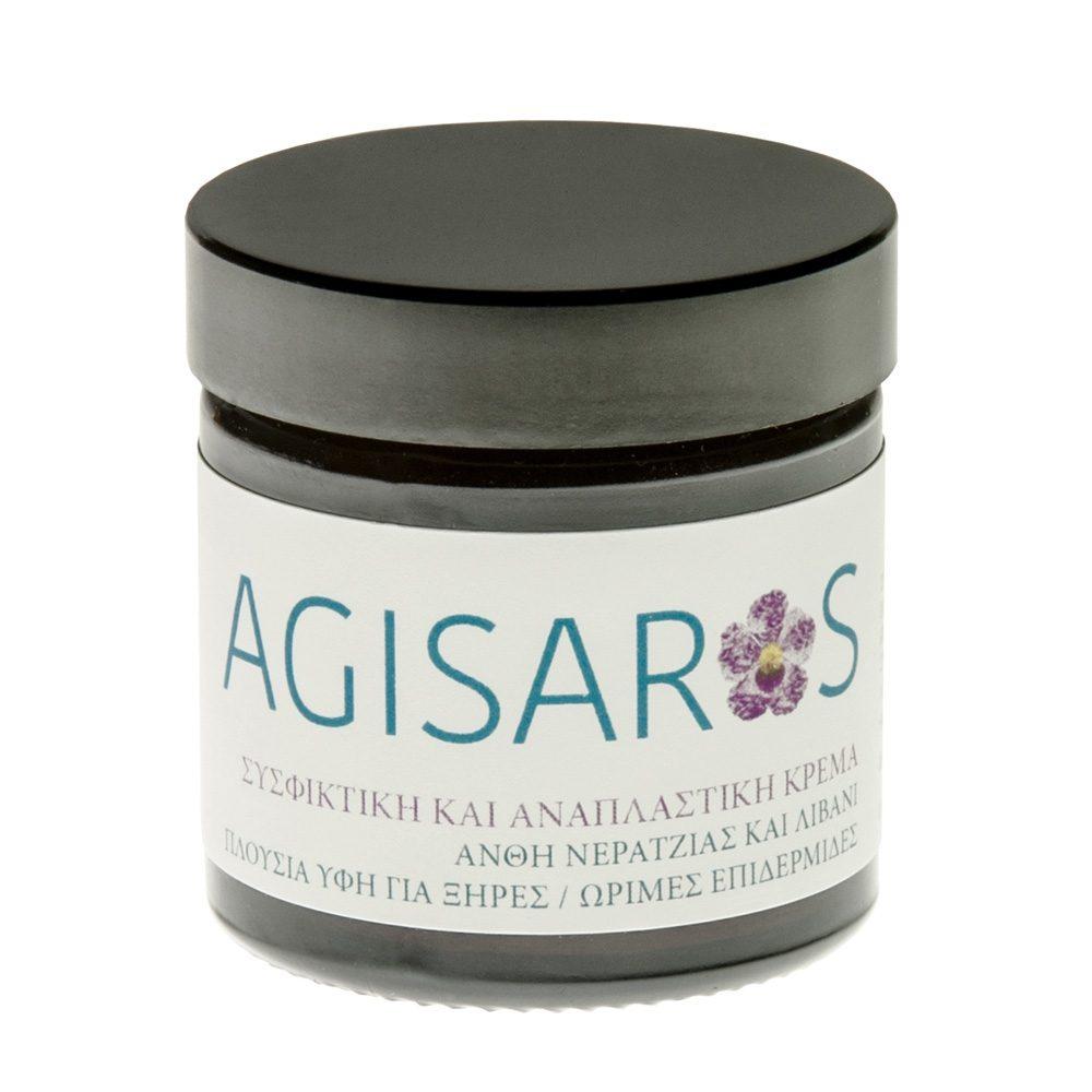 Κρέμα προσώπου συσφικτική άνθη νεραντζιάς & λιβάνι (Agisaros) (50ml)