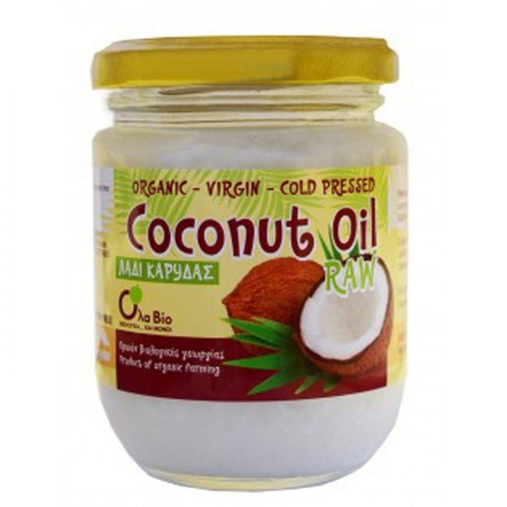 Organic raw virgin coconut oil (OlaBio) (200ml)