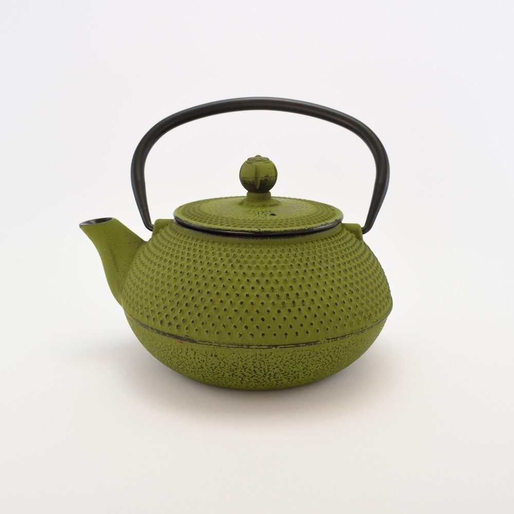 Чайник чугунный (зеленый) (800мл)
