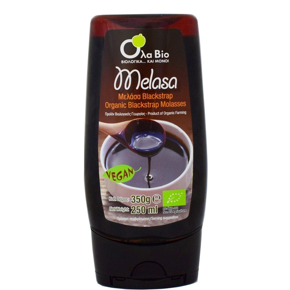 Μελάσα Blackstrap (δοχείο squeeze) (Βιολογική) (350g)