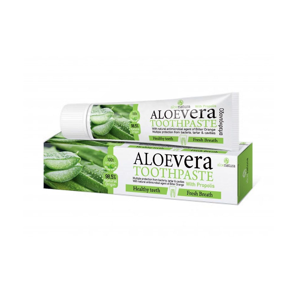 Οδοντόκρεμα φυτική με Αλόη βέρα - Πρόπολη (Aloe Natura) (75ml)