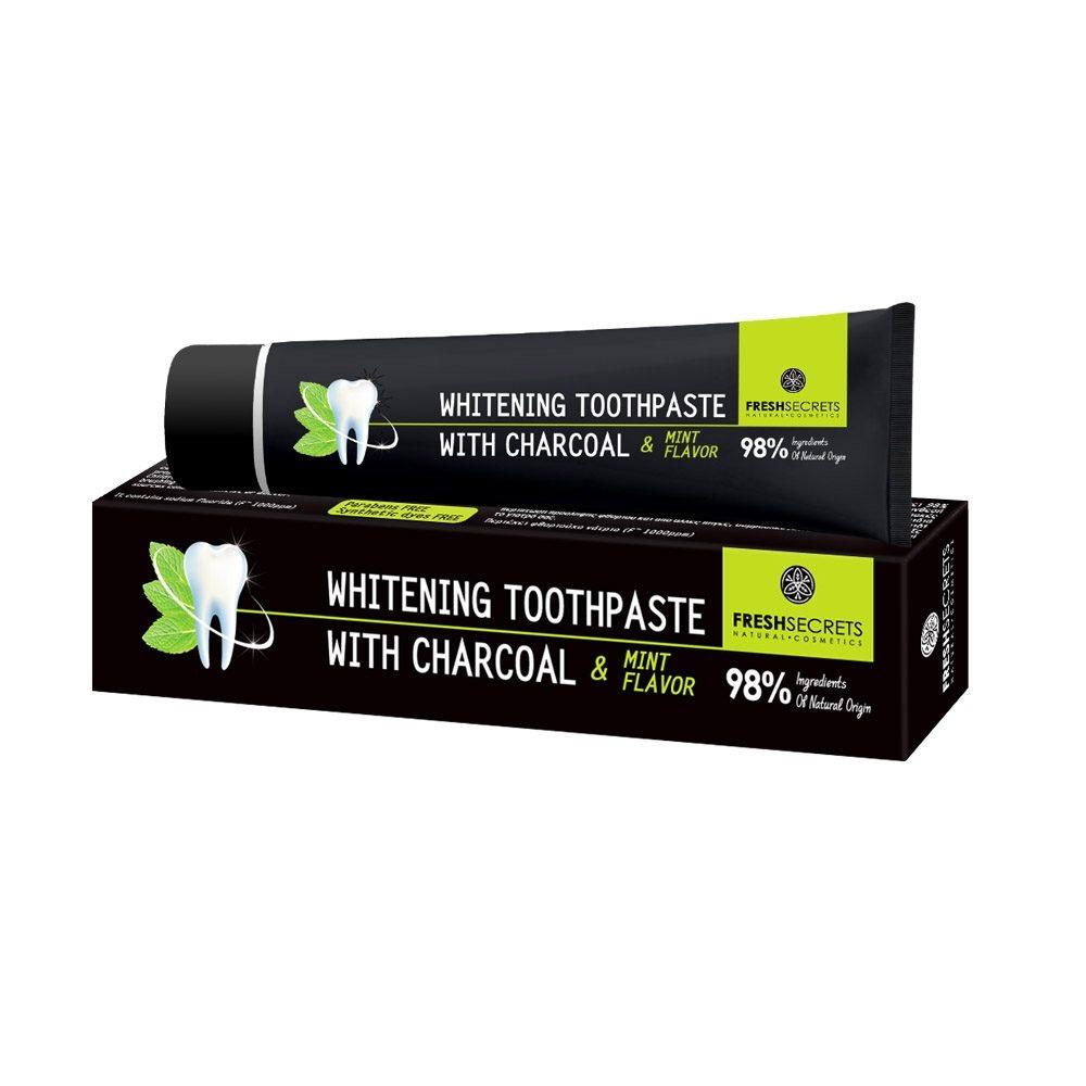 Зубная паста с древесным углем Свежие секреты (75ml)