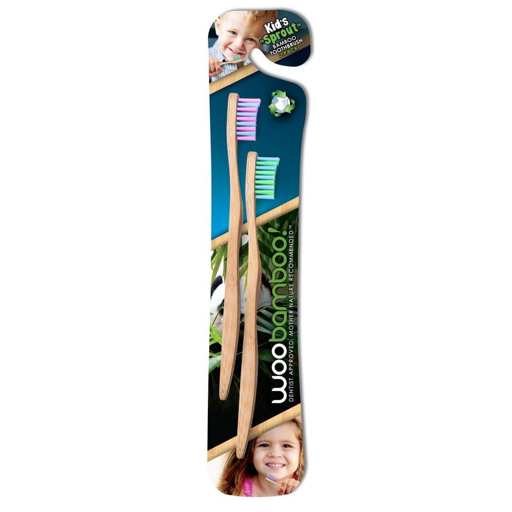 Παιδική Οδοντόβουρτσα απο Βιοδιασπώμενο Μπαμπού (Woobamboo) (2 Τεμ.)