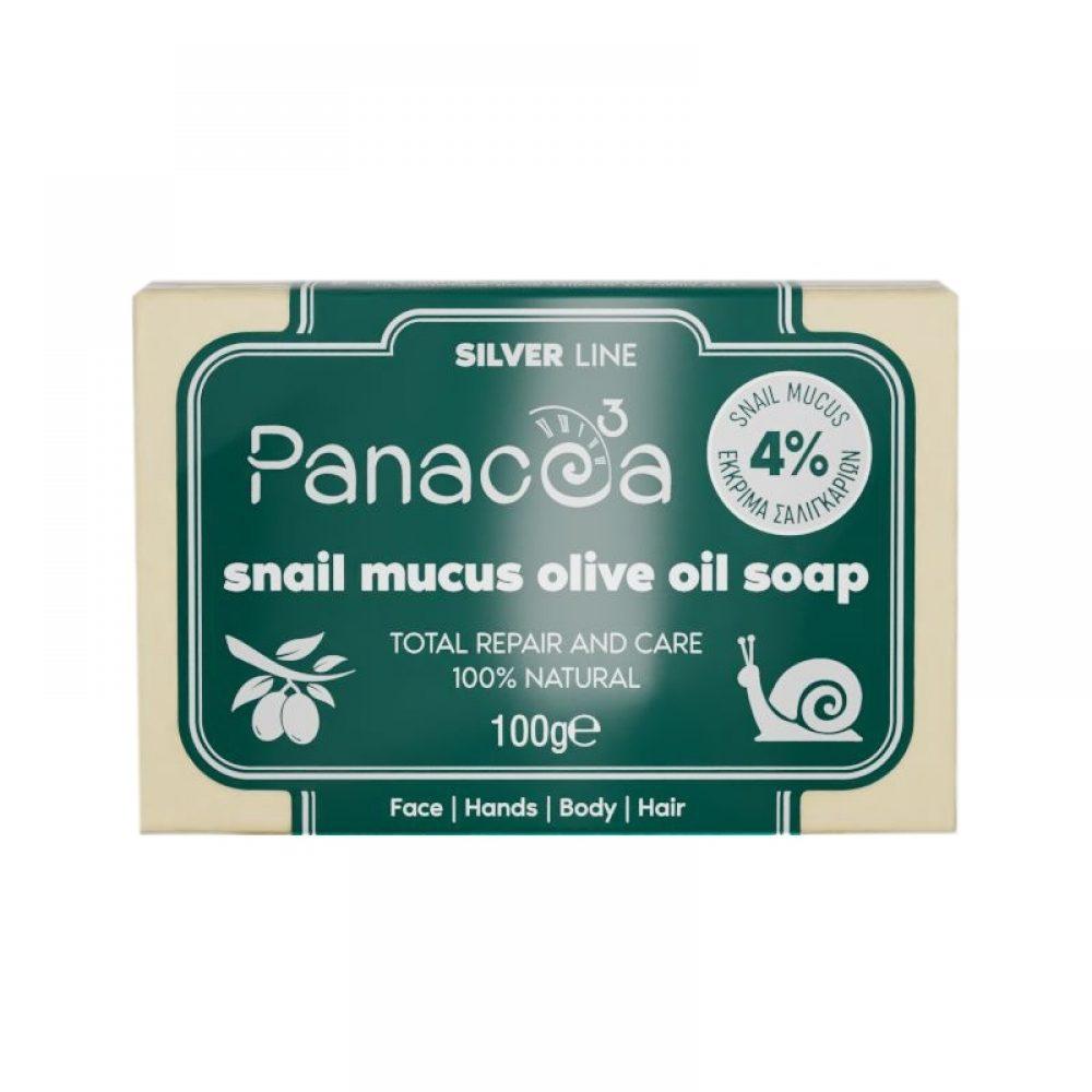 Σαπούνι με έκκριμα Σαλιγκαριού Panacea για καθαρισμό προσώπου (100g)