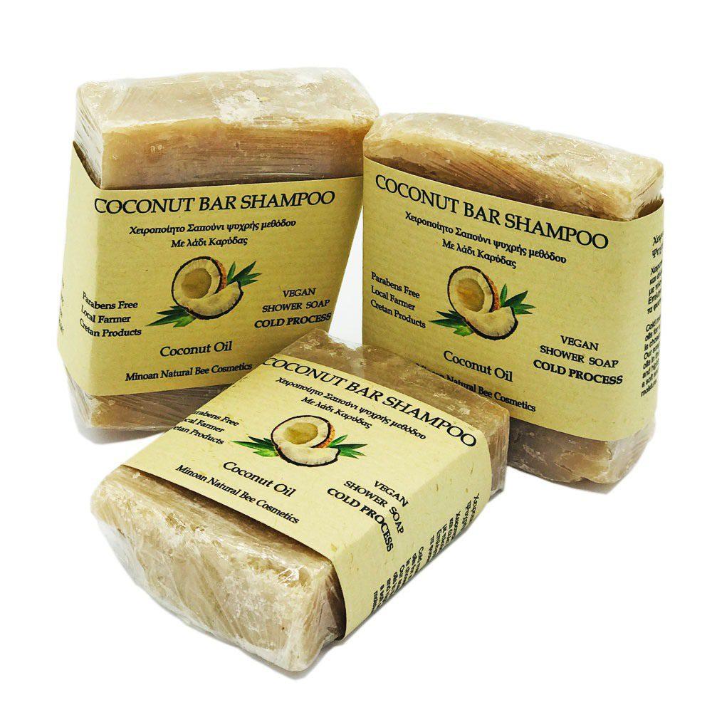 Σαπούνι Καρύδας Χειροποίητο ιδανικό για αφρόλουτρο (120g)
