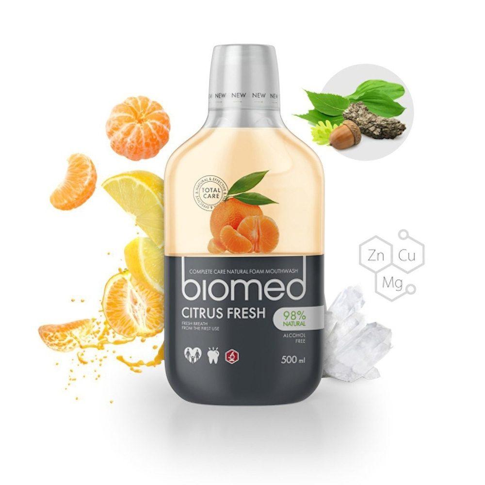 Στοματικό διάλυμα Biomed Citrus Fresh Χωρίς φθόριο (500ml)
