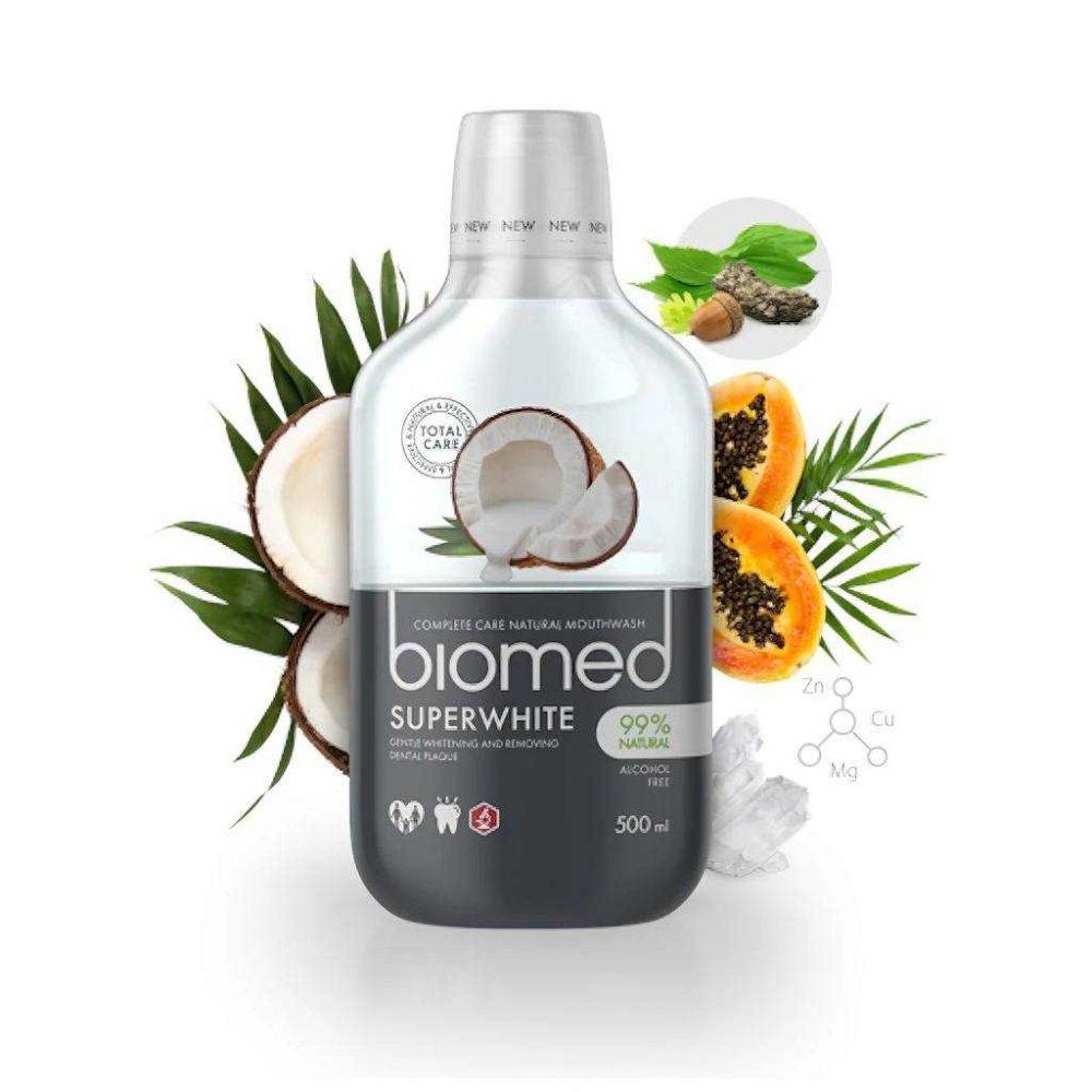 Super White Mouthwash Fluoride-free Biomed (500ml)