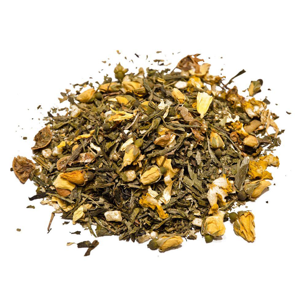 Green caipirinha green tea