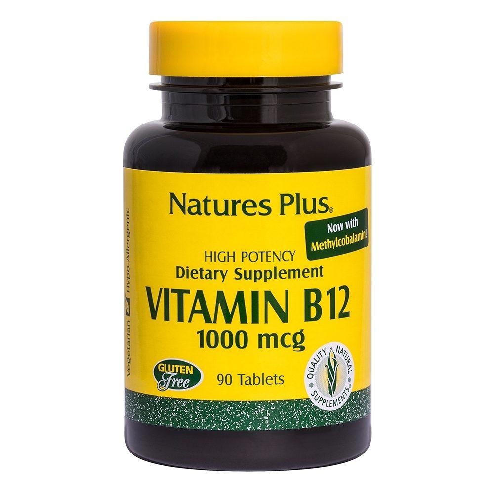 Βιταμίνη Β12 φυτική 1000 mcg 30 ταμπλέτες (Nature's Plus)
