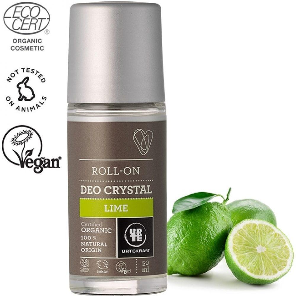 Organic deo crystal deodorant roll-on Lime (50ml)