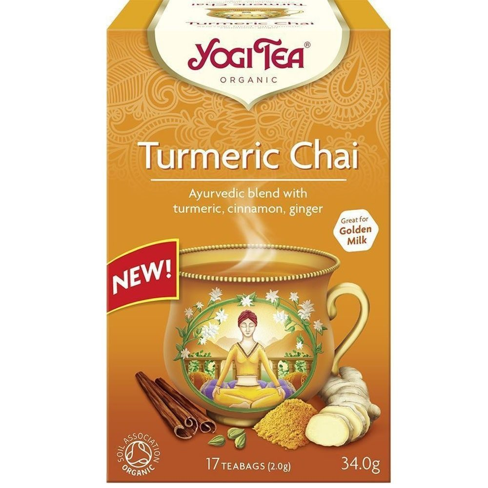 Yogi tea Κουρκουμάς - Κανέλα Turmeric Chai (Βιολογικό)