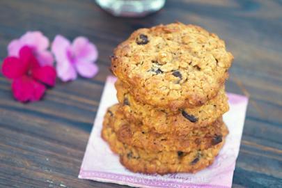 Μπισκότα βρώμης με μέλι, χωρίς αλεύρι, ζάχαρη και βούτυρο